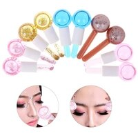 1pair large beauty ice hockey energy beauty crystal ice wave eye for face globes water massage ball cooling skin care