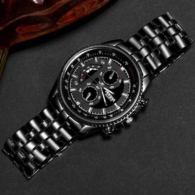 Relogio Masculino 2019 Top Brand Luxury Men's Watch Stainless Steel Clock Male Sports Watches Men Quartz Casual Wrist Watch