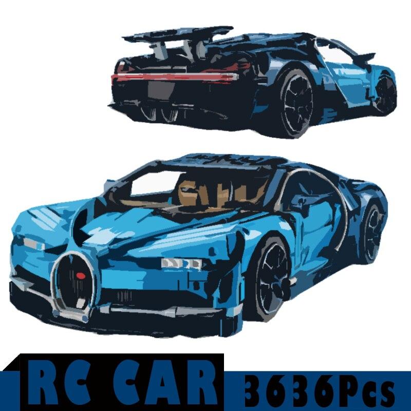 3636 шт. Супер спортивный автомобиль RC автомобиль игрушки конструкторных блоков, Детские кубики, подарки технической Дети DIY образовательной ...