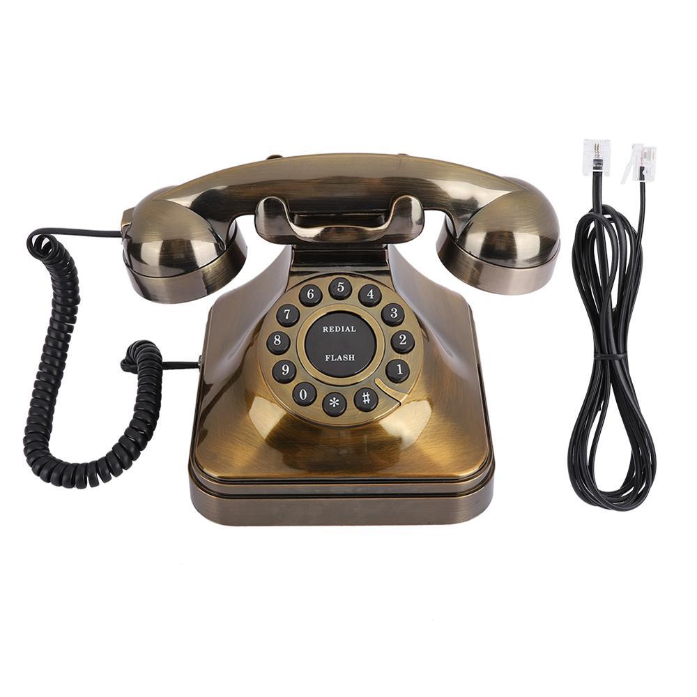 WX-3011# New Antique Bronze Telephone dial Vintage Landline Phone Desktop Caller Home Office vintage retro phone