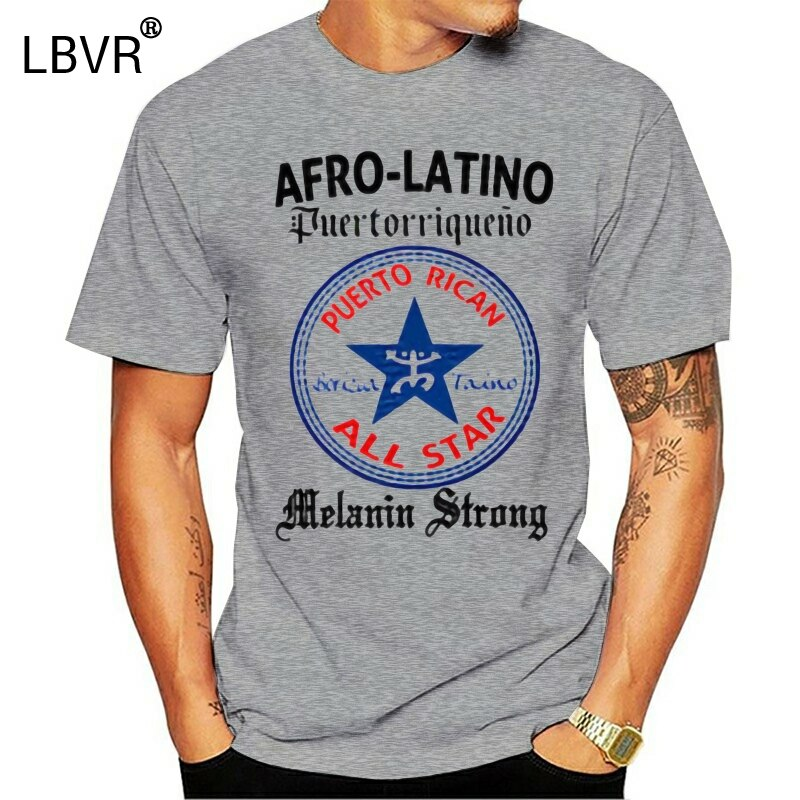 Puerto Rico camiseta Afro-latinos Boricua Taino de la melanina fuerte bandera