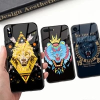 animals case for huawei mate40 tempered glass case hard back cover gorgeous for huawei mate 9 10 20 30 pro p10 20 30 pro nova 3e