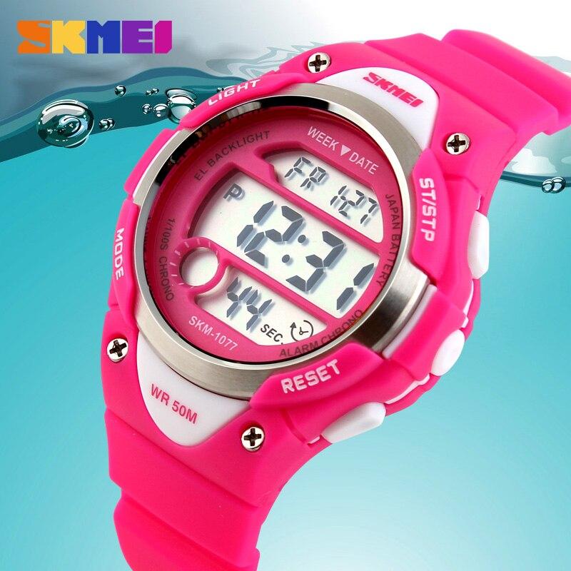SKMEI Creative Digital Watches Kids Girl Alarm Outdoor Sports Watch Children Fashion Casual Stopwatch Waterproof Boy Wristwatch