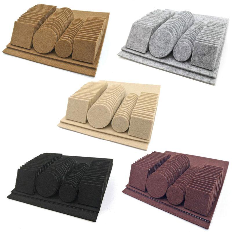 Coussinets de protection de sol en bois feutre   Meubles, jambe de Table de chaise, auto-adhésifs, bois de feutre, 80/130 pièces