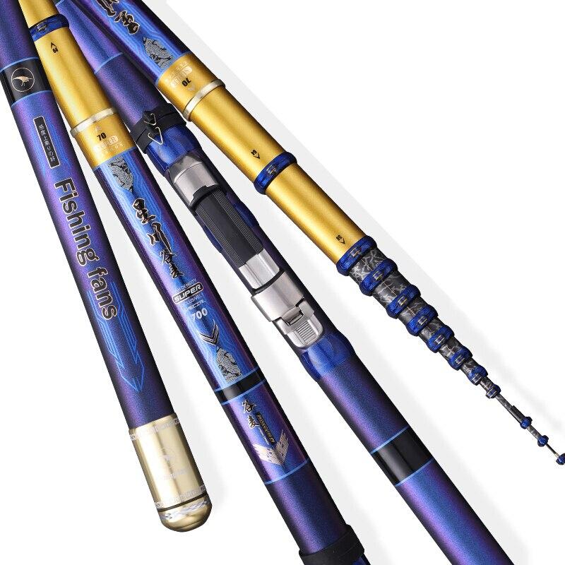 Taigek Super Light Hard Fishing Rod  High Carbon Fiber Telescopic Power Hand Pole Fishing Rod Throw Telescopic Fishing Rod enlarge