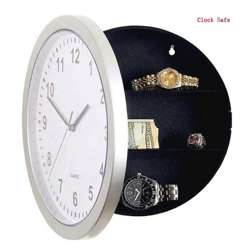 Wall Clock Safe Hidden Secret Safe Home Security Storage Box Hide Money Safe Box Anti Theft Stash Box For Valuables Cash Jewelry