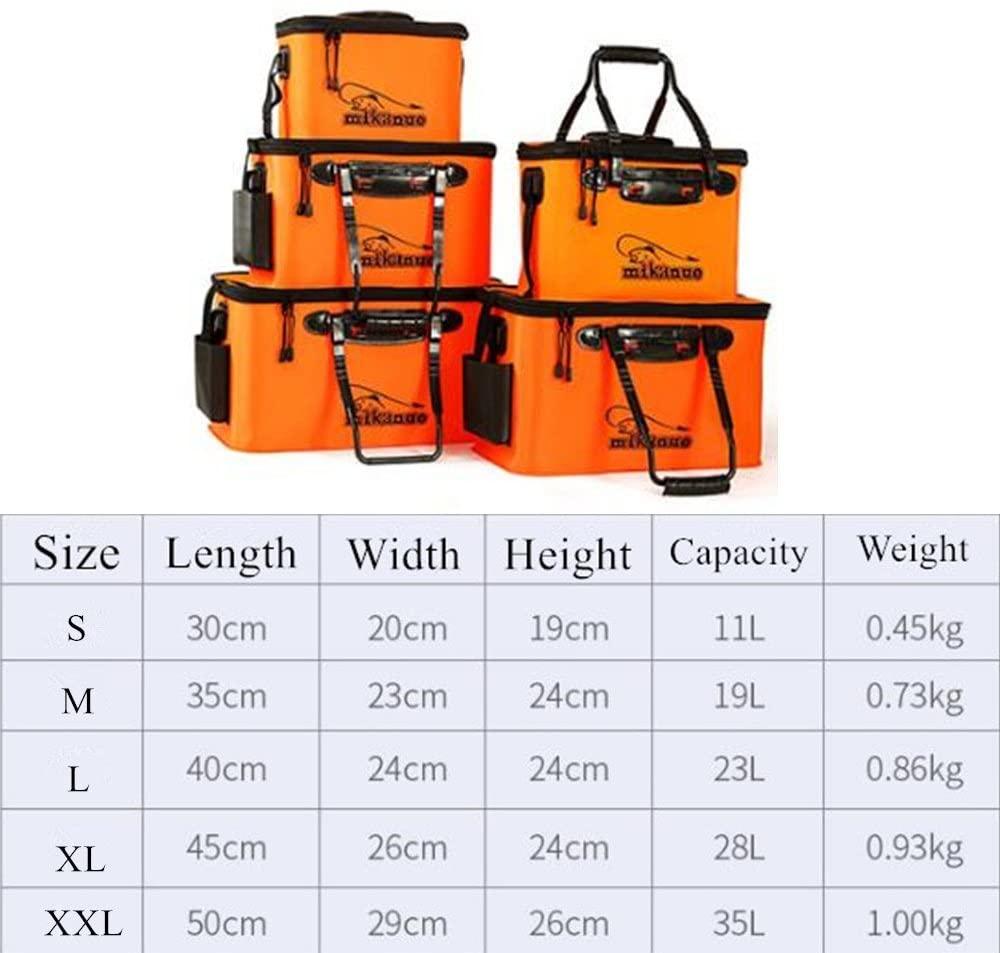 Portable Eva Fishing Bag Collapsible Fishing Bucket Live Fish Box Camping Water Container Pan Basin Tackle Outdoor Storage Bag