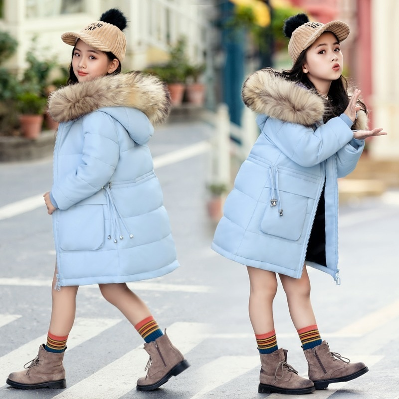 2020 meninas inverno espessamento quente moda deslumbrante para baixo casaco de algodão