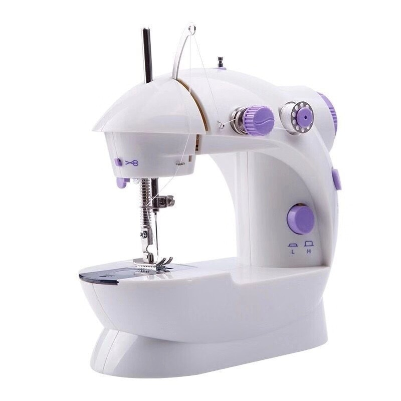 Mini máquina De coser De Mano Eléctrica, doble Pedal De hilos, máquina De coser Costura De Costura, máquina De coser doméstica