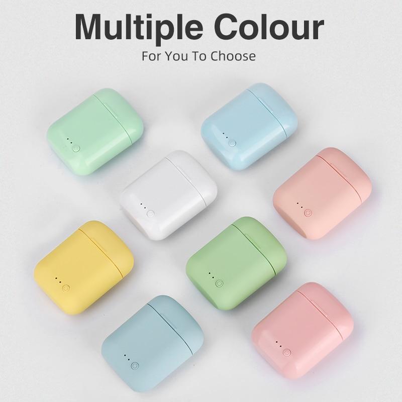 5.0 Bluetooth Mini-2 TWS Wireless Earphones Earphone TWS Matte Macaron Earbuds With Mic Charging Box