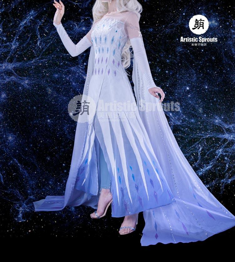 Cosplay congelado Rainha Elsa Cosplay traje vestido feminino presente