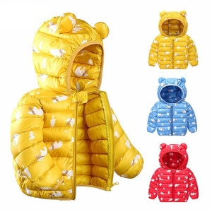 6M-5Y Spring Autumn baby girls jacket kids boys coats with ear Hooded girl clothes coat infant children's clothing boys jacket