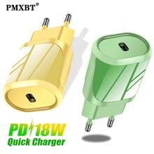18W Muur Usb C Lader Type C Power Charge Adapter Voor Iphone 11 Pro Xs Max Samsung Note 20 s10 Xiaomi Snoep Kleuren Usbc Charger
