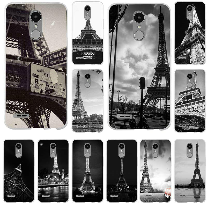 Macio TPU Casos de Telefone para LG G2 G3 Mini G4 G5 G6 K4 K7 K8 K10 2017 V10 V20 V30 5X Nexo Shell Incrível Paris França Torre Eiffel