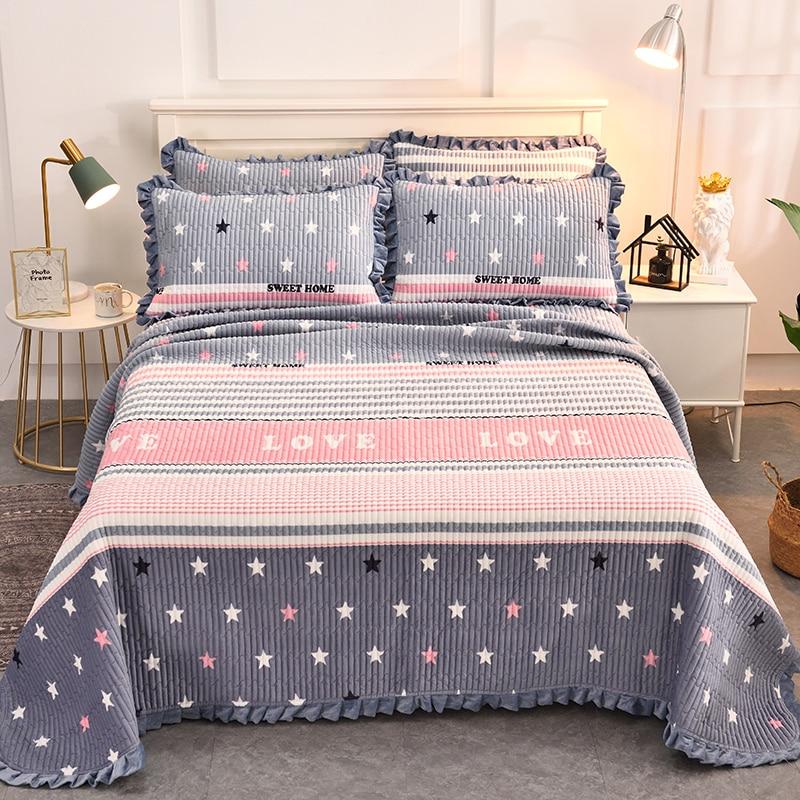 مفرش سرير مبطن من نسيج منزلي ، دافئ ، منتفخ سطح AB ، غطاء سرير ، غطاء وسادة غير متضمن 200x230 سم