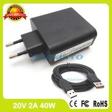 20V 2A 5.2V 2A USB adaptateur secteur pour Lenovo Yoga 3-1470 seulement Core i3 ADL40WCA ADL40WCB ADL40WCC ADL40WCD ADL40WCE prise ue