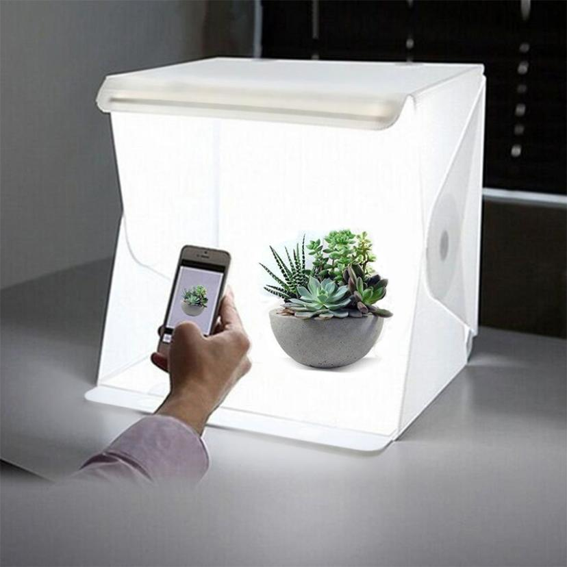 Luces LED Lighting Highlight Fotografia Portable Photography Studio Mini Estudio Photobox with 2 Backgrounds for Camera Photos