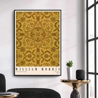 william morris print exhibition museum poster victoria albert wall art canvas painting modern home decor modular pictures
