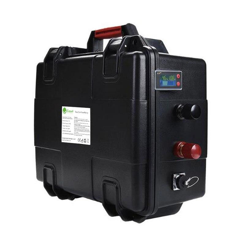 Batería de polímero de iones de litio recargable a prueba de agua portátil de 36v 10ah 60ah 120ah con cargador para motor eléctrico