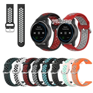 20mm 22mm Sport Silicone Breathable Strap For Garmin Active vivoactive 4  Smart Watch Wristband
