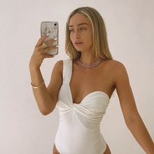Solid Screw Thread Sleeveless One Shoulder Halter Jumpsuits Sexy Women Pleated Bodysuits Casual Femm