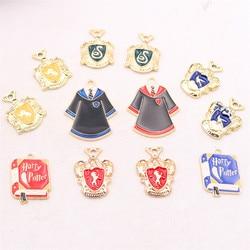 Pingente mágico do suporte do esmalte 8 pces, encanto mágico do mágico, encanto mágico do crachá, encanto mágico da veste, charme mágico dos trapaceiros, jóia de diy que faz p78