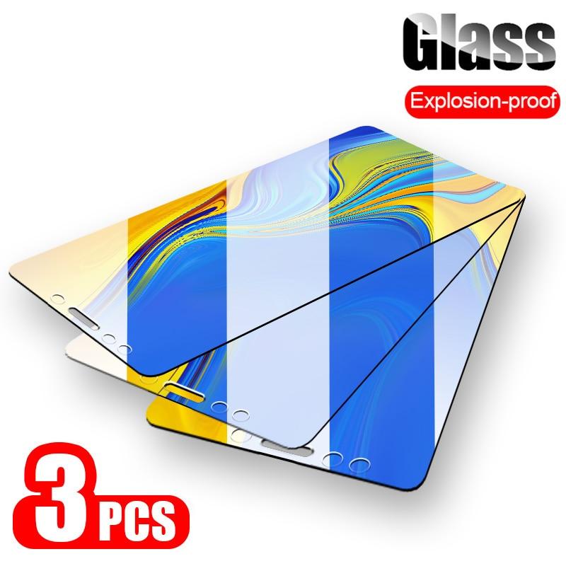 3PCS Tempered Glass For Samsung Galaxy J4 J6 A8 Plus J8 A6 A7 2018 Screen Protector For Samsung Galaxy A5 A3 A7 2017 Glass