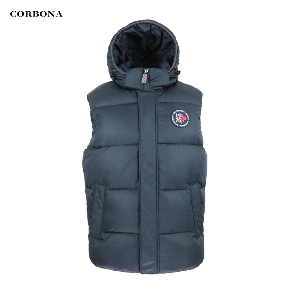 CORBONA الشتاء سترة دون أكمام معطف الرجل المعتاد مقنعين الخريف الدافئة أفخم سترة القطن مبطن طويل ماركة الملابس 2021