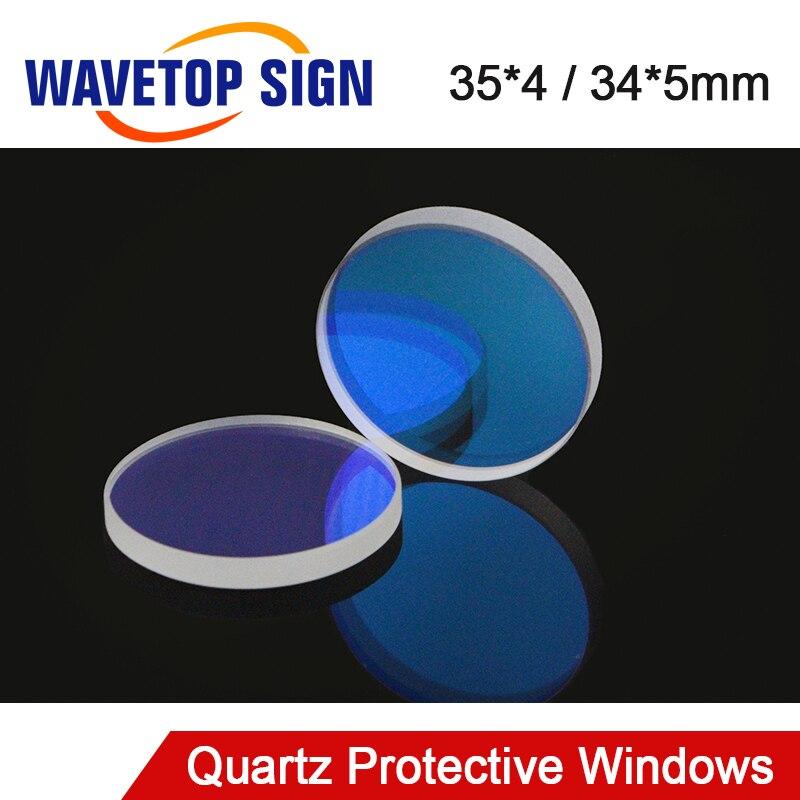 WaveTopSign laserowe okna ochronne 34x5mm 35x4mm krzemionka topiona kwarcowa dla marki DNE maszyna do cięcia laserem światłowodowym