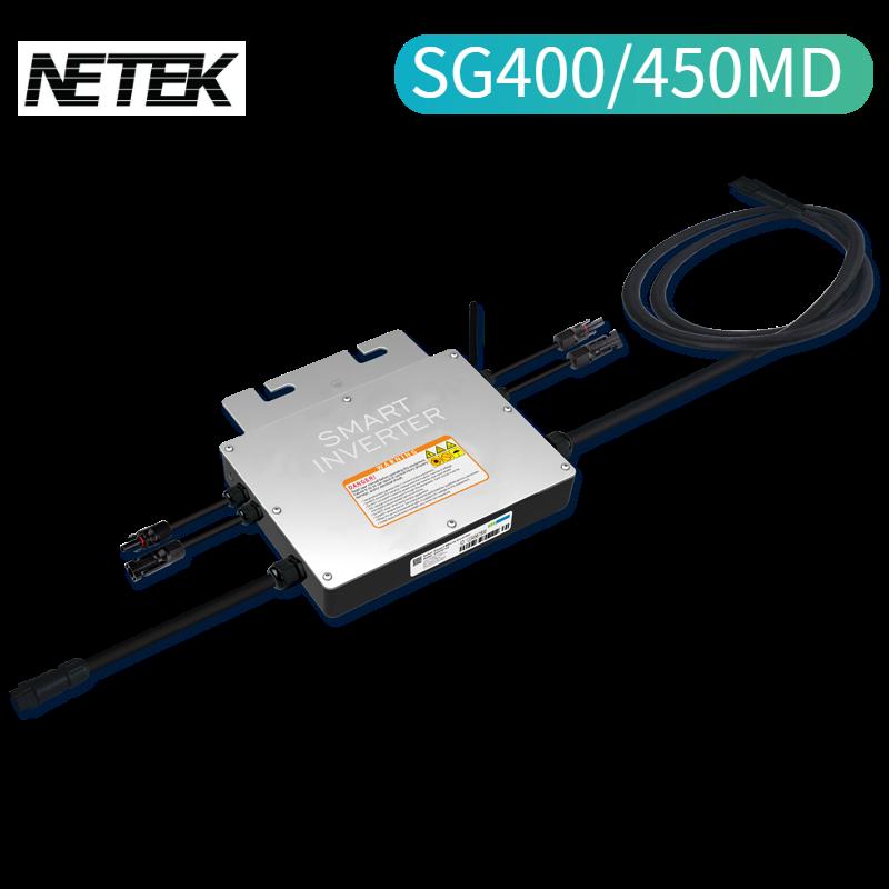 توصيل الألواح الشمسية لتوليد الكهرباء على الفور SG400/450MD مايكرو العاكس التوصيل والتشغيل الناتج AC120/230 فولت