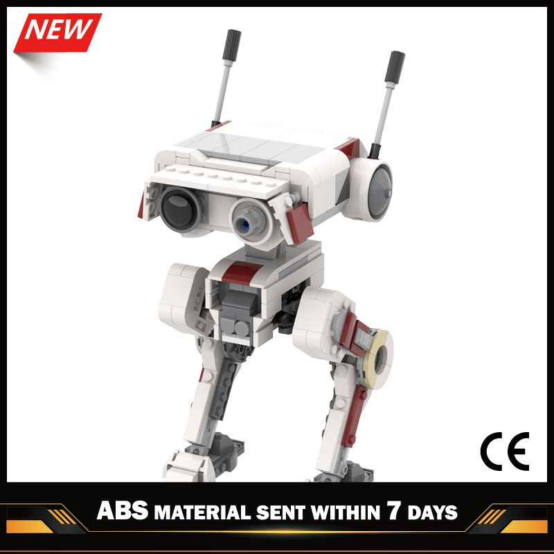moc 38943 action figure demogorgobed bricks compatible with small building blocks assemble kid s children s toys gifts MOC-33499 Star Space Robot FallenED Order BD-1 Bricks Compatible with Small Building Blocks Assemble Kid's Children's Toys Gifts