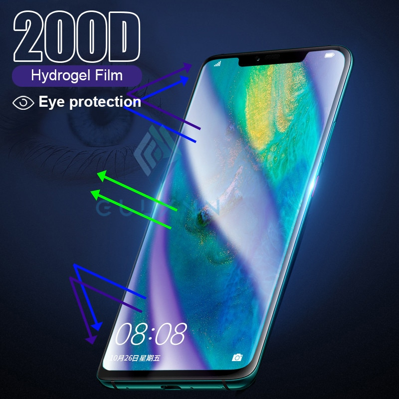 200D изогнутая мягкая Гидрогелевая пленка для Huawei P30 Pro P40 Lite, полное покрытие для Nova 3i 3E 5i 5T 6 7 7SE, защита от синего света
