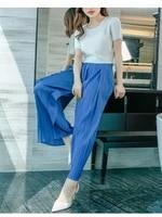 miyake pleated wide leg pants womens summer new fashion loose large size high waist slimming casual straight leg pants 40 75kg