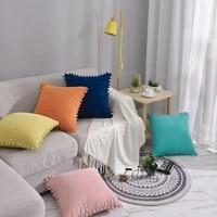 kiss queen diamond corduroy sofa cushion cover solid throw pillow cover decorative pillow case for car home