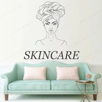 skin care wall decal treatment facials wall sticker vinyl mask decoration body massage bedroom home wall decor jh328