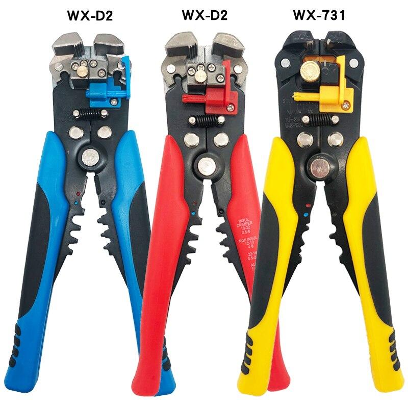 Pelacables automático WX-D2 cortador de cables multifunción alicates de presión Terminal 0,2-6mm herramientas de reparación de electricista