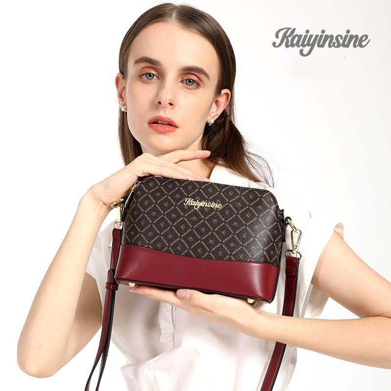 Fashion High Quality Leather Messenger Bags for women  Crossbody Bag Clutch Purse Women Shoulder Handbag Tote Vintage Brand