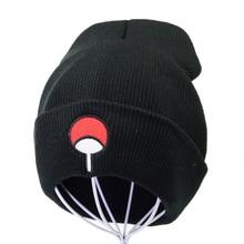 Anime Lovers Naruto Beanie cap Uchiha Family Logo Embroidery  Knitted Hat Winter men Women Skullies Beanies Hat Hip Hop Knit Cap