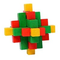 simple 3d wooden puzzle toys game kongming lock unique classical intellectual cube educational toy model building kits