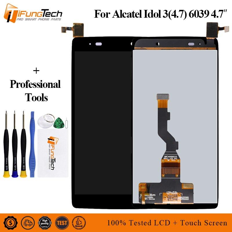 "4.7 ""display lcd + touch screen digitador assembléia para alcatel idol 3 (4.7) lcd 6039 6039a 6039k 6039y 6039j 6039s"