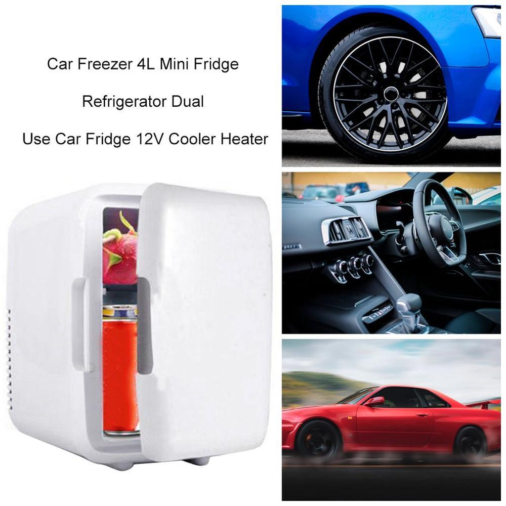 2020 12V  4L Mini Portable Car/Household Freezer Fridge Refrigerator Car Fridge Cooler Heater Universal Vehicle Parts