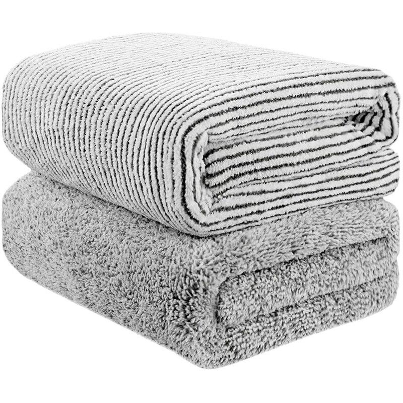 70x140 سنتيمتر المتضخم منشفة استحمام الخيزران ، الخيزران ألياف الفحم الجسم منشفة ، سوبر ماصة و التجفيف السريع منشفة منشفة منشفة ، Gy