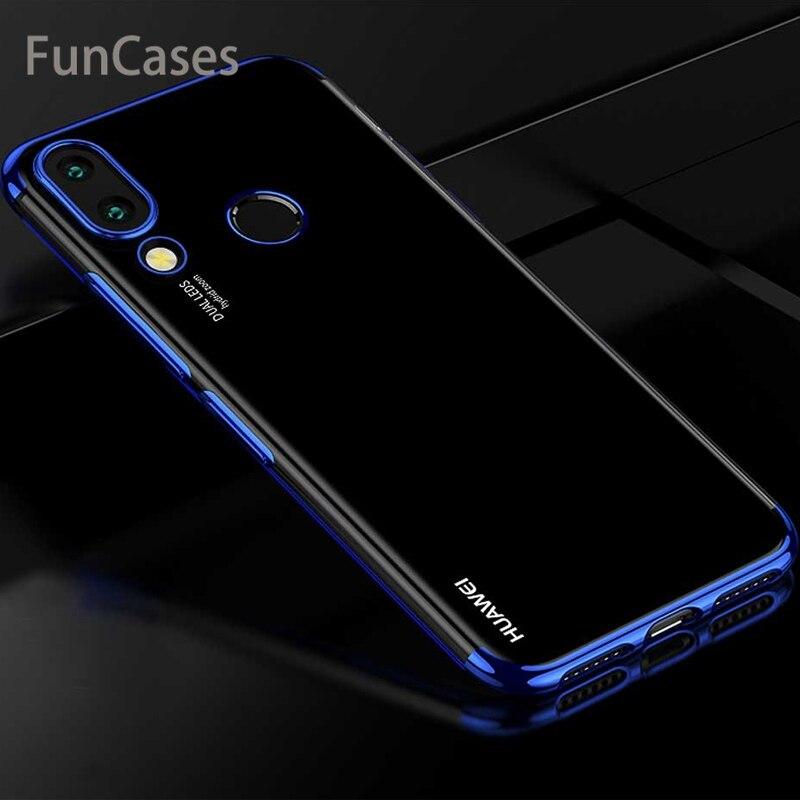 nova 3i Case for Huawei nova 3i Case Protective Bumper Cover Silicone Transparent Plating Soft TPU Case For Huawei nova 3 Cover