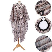 Fashion Printed Cloth Retro Shawl Haircut Oiled Apron Cloth Adult Household Cloth Not Easy To Stick