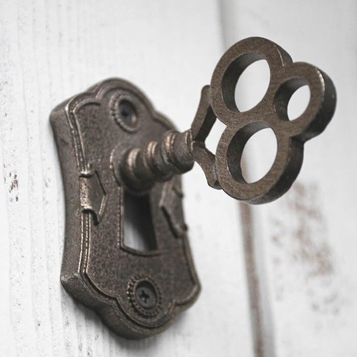 Retro Europea ojo desnudo maneja montado en la pared de la puerta de madera clásica manijas y perillas de bronce Manijas para puertas de armario y tirar