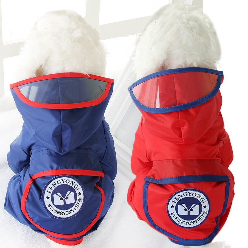 Waterproof Pet Dog Raincoat Solid Dog Clothes for Small Dogs Chihuahua Yorkies Rain Coat Puppy Overalls for Dogs Pets Clothing