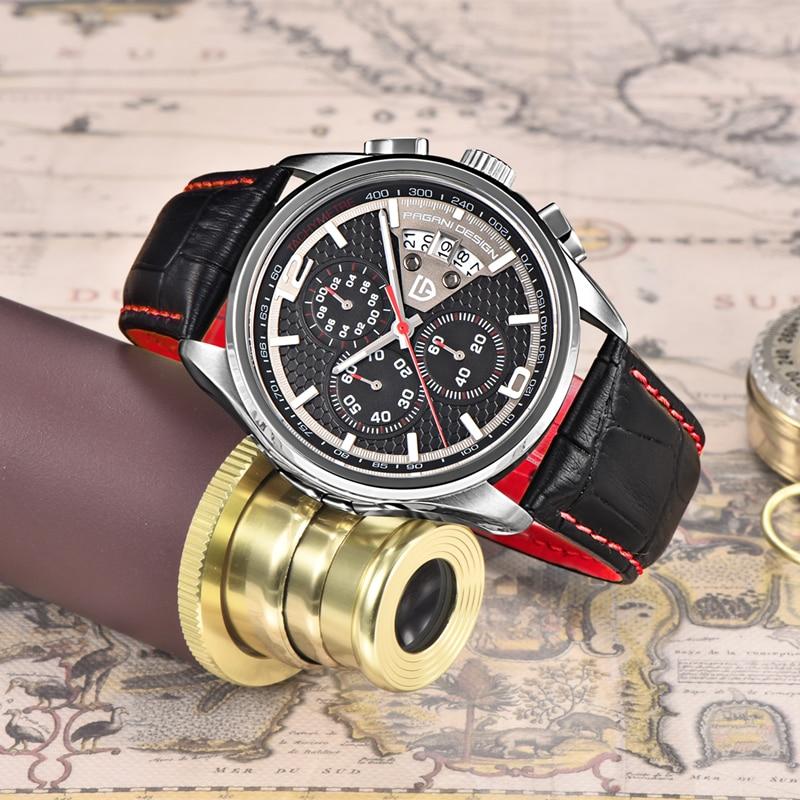 2021 PAGANI تصميم الرجال ساعات كوارتز الماركات الفاخرة حركة الموضة الساعات العسكرية جلدية ساعات كوارتز Relogio Masculino