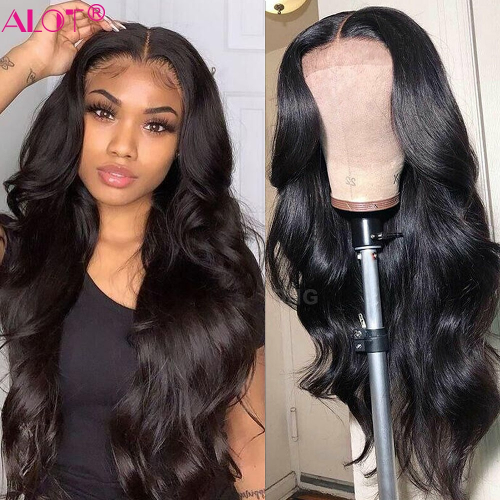 Body Wave Lace Part Wig Brazilian Human Hair Wig 150% 13x1 Lace Wigs Pre Plucked With Baby Hair For Women Remy 8~28 Inch