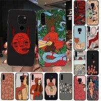 polly nem pintura arte suave preto phone case for huawei y6 7prime 9prime y5 2019 y5 y6prime 2018 nova 3e mate10 20lite 20pro
