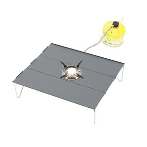 NHBR Folding Camping Table Portable Mini Outdoor Aluminum Lightweight Rectangle Table with Carry Bag for Camping BBQ Fishing